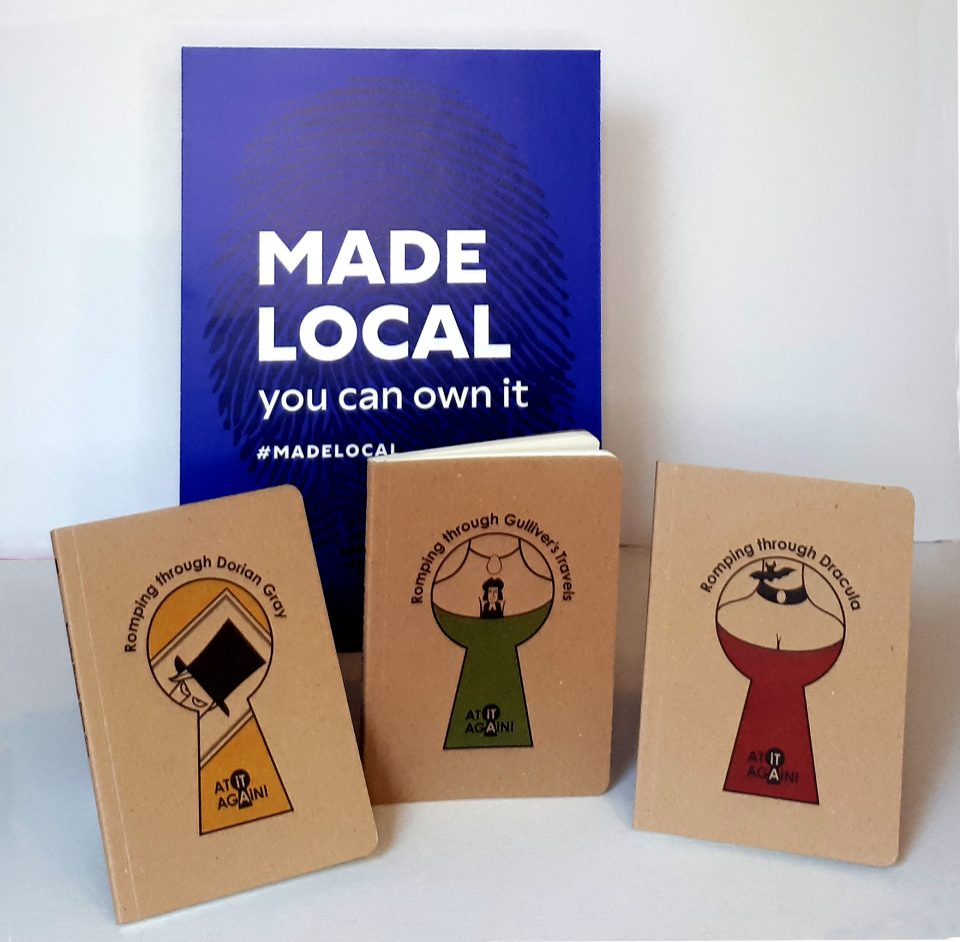 Literary Pocket Books Made Local by At it Again!