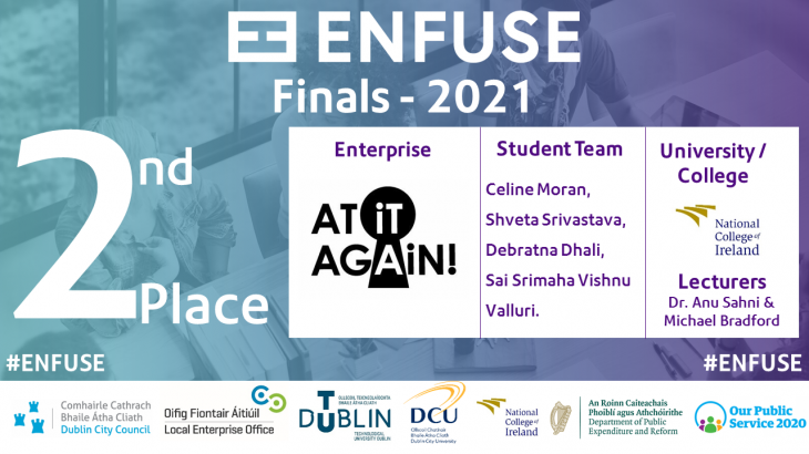 At it Again! student team takes 2nd Place at Enfuse